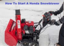 How To Start A Honda Snowblower